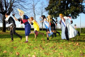 Final Fantasy VIII Cosplay Group, Kyactus dance! by Alexcloudsquall