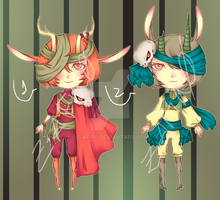 [Adoptables] Deer Twins [Closed] by Z-afiro