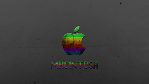 Retro Macintosh Background by Sonaxaton
