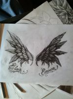 Good and evil wings commision by gkarts661