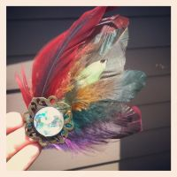 Feather Rainbow Hair Fascinator by GeekStarCostuming