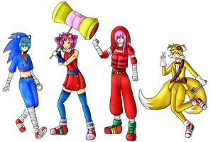 .:Full Body Commission:. Sonic Boom Cosplays by DarkBox-V2K