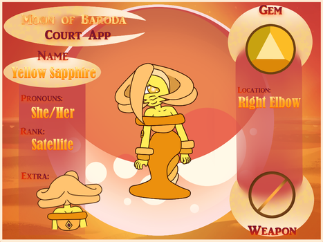 MoB Court App - Yellow Sapphire by GHRainbowFluorite