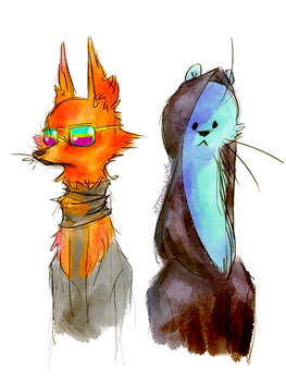 The Fuzzy Couple by Lollonz