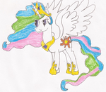 Princess Celestia Pony Drawing by SoraJayhawk77