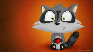 Cartoon Raccoon by KellerAC