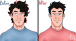 Markiplier's Floof [Before and After] by risaXrisa