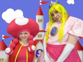 Peach and Toadstool by Maddmatthias247