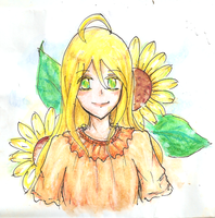 Lily and Sunflowers by ChocoVanillaX