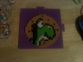 Yoshis cookie bead coaster.... by dylrocks95
