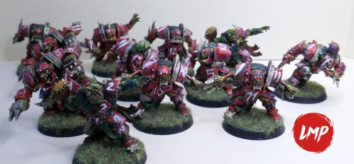 Painting Ork BloodBowl by LittleMadPaintings