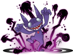 Sableye used Dark Pulse by TamarinFrog