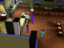 Sims 3 - Eugene cooked hot dogs for us by Magic-Kristina-KW