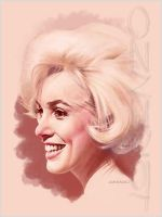 Marilyn Quick Study 3 by LorenzoDiMauro