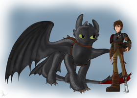 HTTYD 2 Hiccup and Toothless by Maygirl96