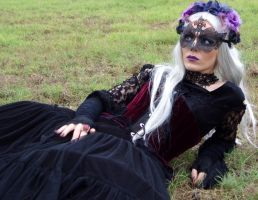 gothic victorian mask lady STOCK PHOTO by MadaleySelket