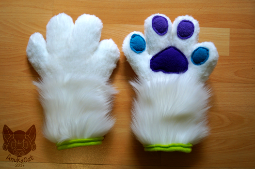 .: Lucy Fursuit Puffy Handpaws :. by AnukaCat