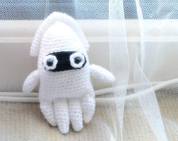 Amigurumi Blooper - Cute Mario Squid plush by Rienei