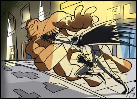 Batman vs Clayface by Granamir30