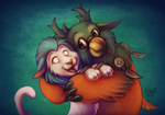 Boomkin Hugs are the BEST Hugs! ft. KageSatsuki by bawky