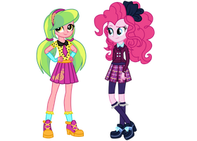 Wondercolt Lemon Zest and Shadowbolt Pinkie Pie by MixiePie