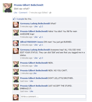 If Hetalia characters had Facebook... by LittleEmers27