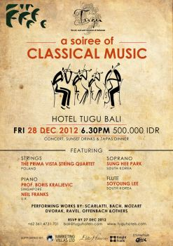 Poster: Classical Music Hotel Tugu Bali by saylow