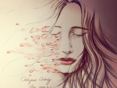 Collapse Calmly 2016/3/1 [drawling diary] by amenba