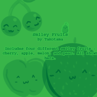 Smiley Fruits Brush Set by takotama