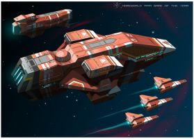 Kushan Heavy Cruiser of Homeworld1 [frameB] by 4-X-S