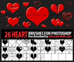 26 Heart Brushes by PsdDude