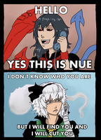 Nue and Youmu: Not a prank call by Tres-Iques