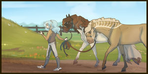 We Are Going for Walks Now by SpytFyre-Ranch