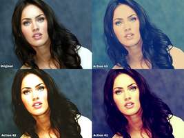 Megan Fox Action Set by FireworkProdz