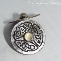SS, Moonstone Celtic Earrings by che4u