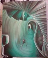 tunnel painting with spider by DREAMandDIFFER