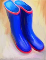 Wellies by carlyscanvas
