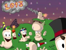 Worms Celebrating New Year 2013 by Metal-M