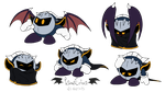 Meta Knight Expressions by VibrantEchoes
