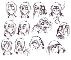 Tori expression sheet by HanMonster