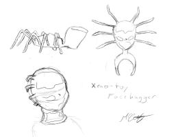 Xeno-toy facehugger - ROUGH by StudentOfRubber
