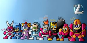 Megaman Robots Masters serie 1 by TorchicZK