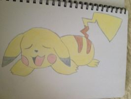 Tired Pikachu by Megalomaniacaly