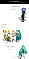 MMD - Random anime pose pack by Kaitochi