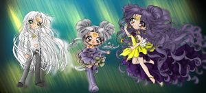 Sailor moon Cat Family by lcwpaintme3