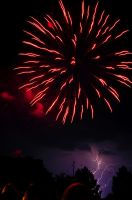 Firework with Lightning by m3t4lh34d2666