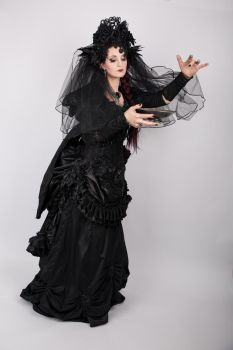 Stock - Gothic witch conjurning spell fantasy dark by S-T-A-R-gazer