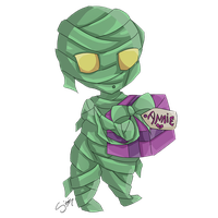 Advent day 11 - LoL - Amumu by amber-enigma