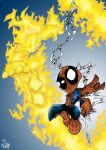 Spidey and Torchy by Rohane