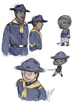 Buffalo Soldier sketches by Alexander-Rowe